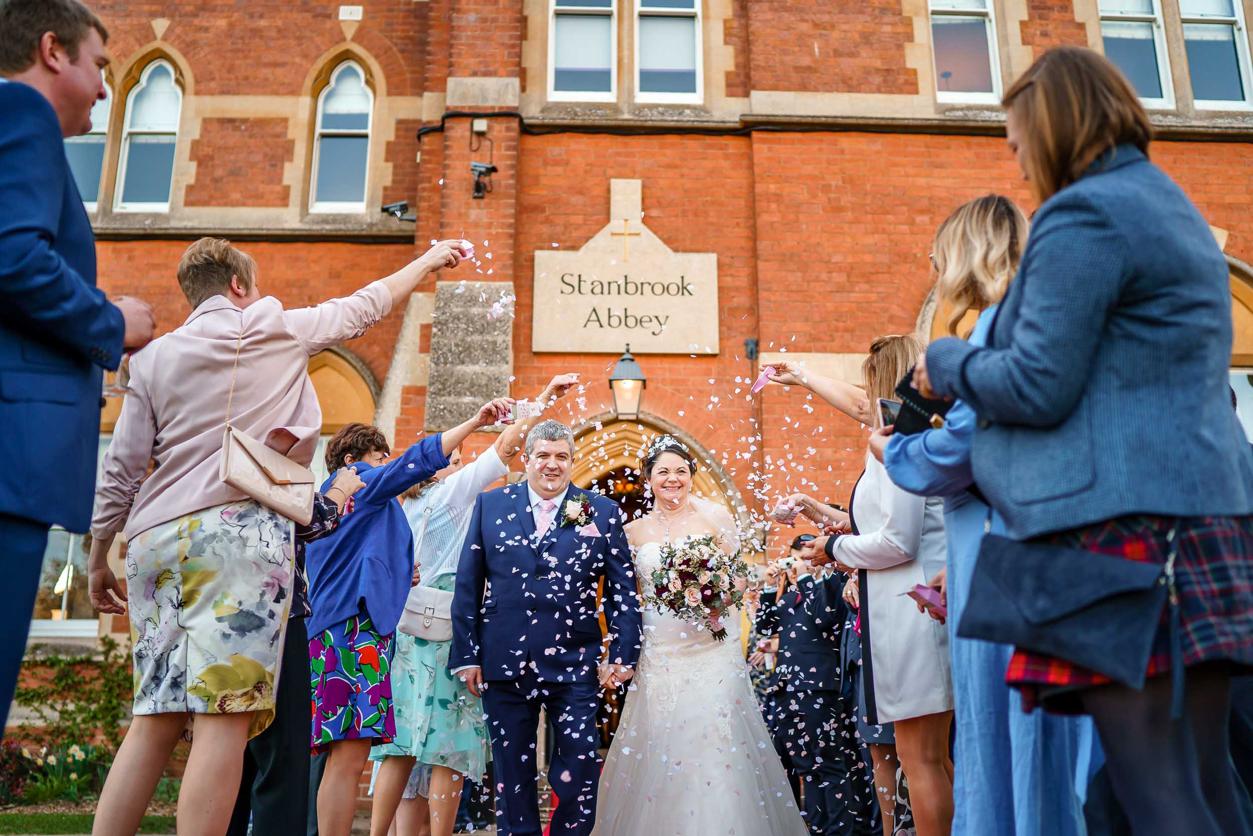 Stanbrook Abbey Confetti Shot- David Liebst Photography, Worcestershire