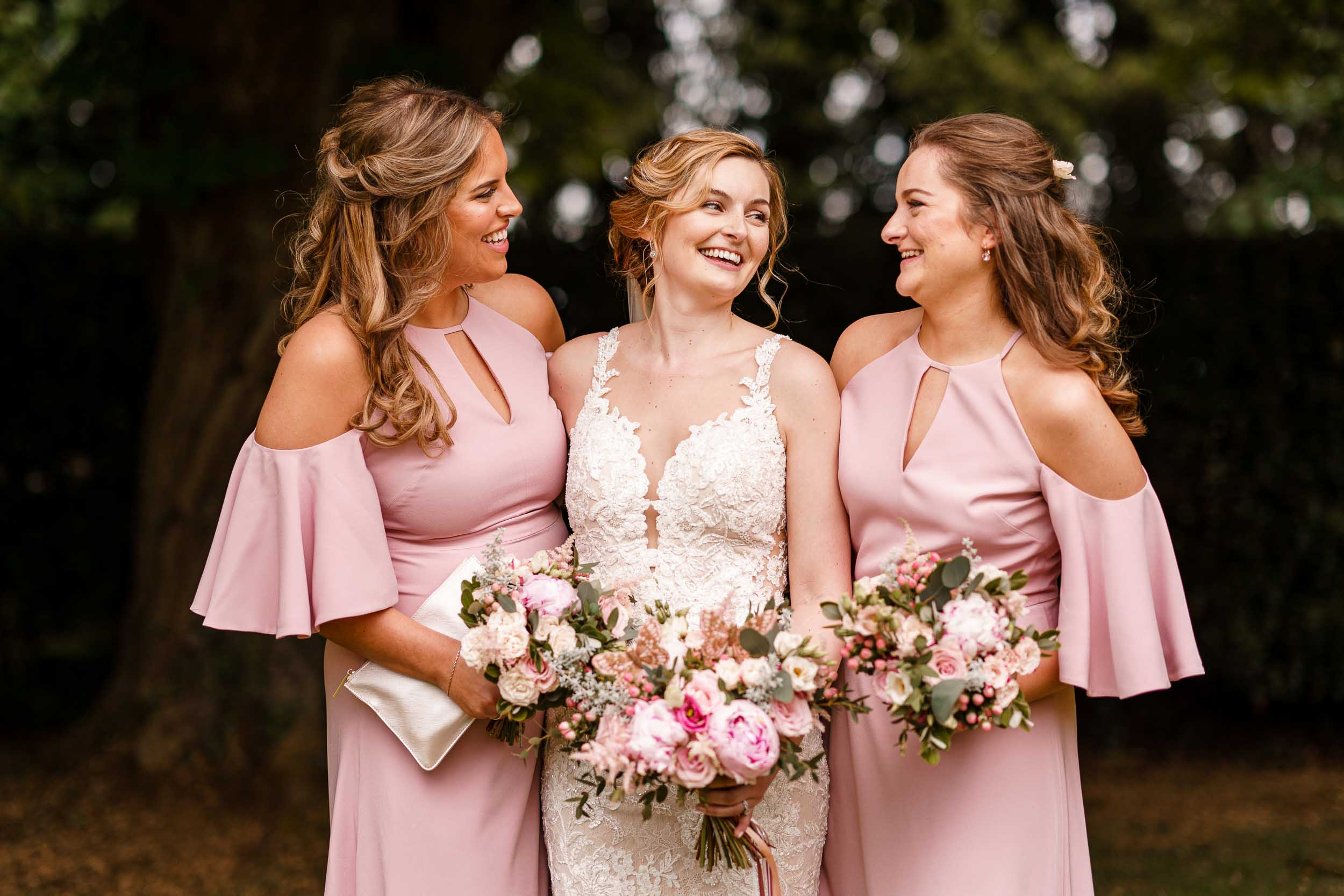 Bride and bridesmaids - Herefordshire wedding photography