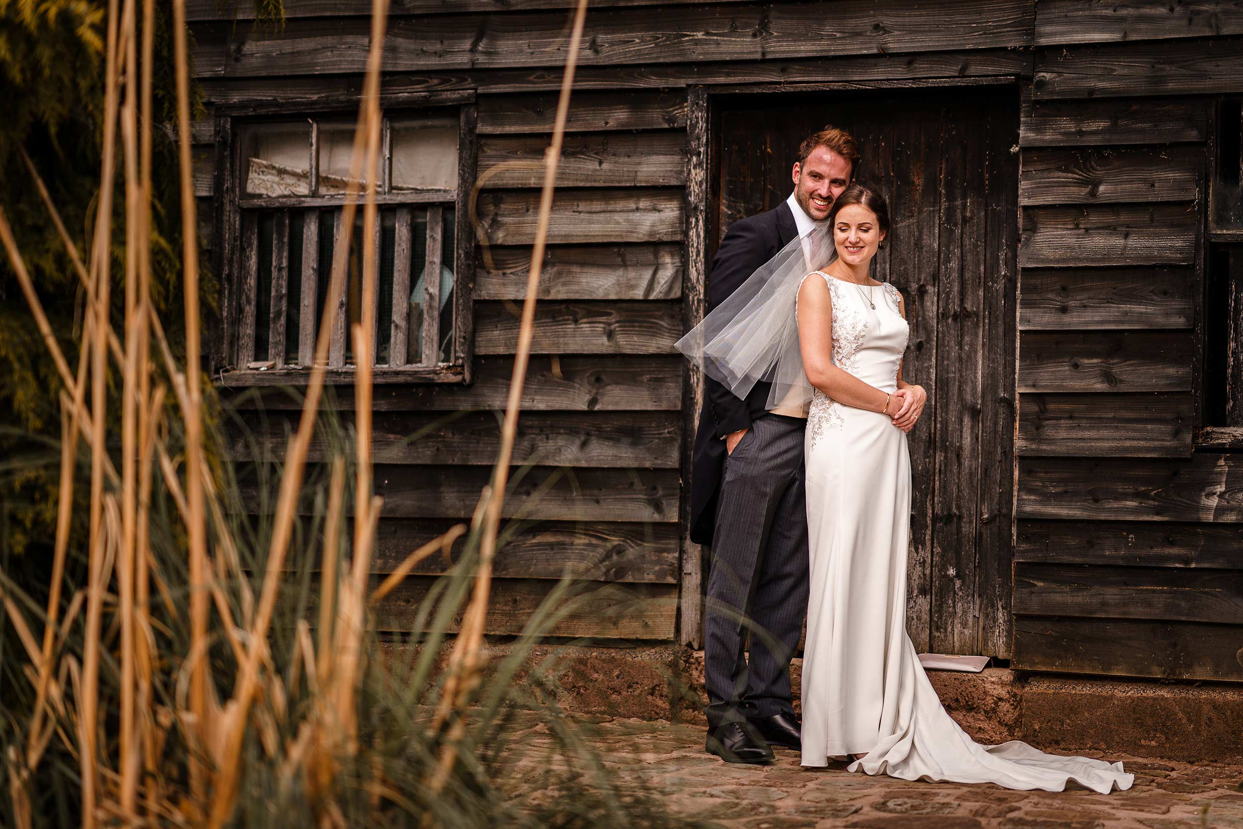 Worcestershire Wedding photographer - Bride and groom portraits - Farm House Wedding
