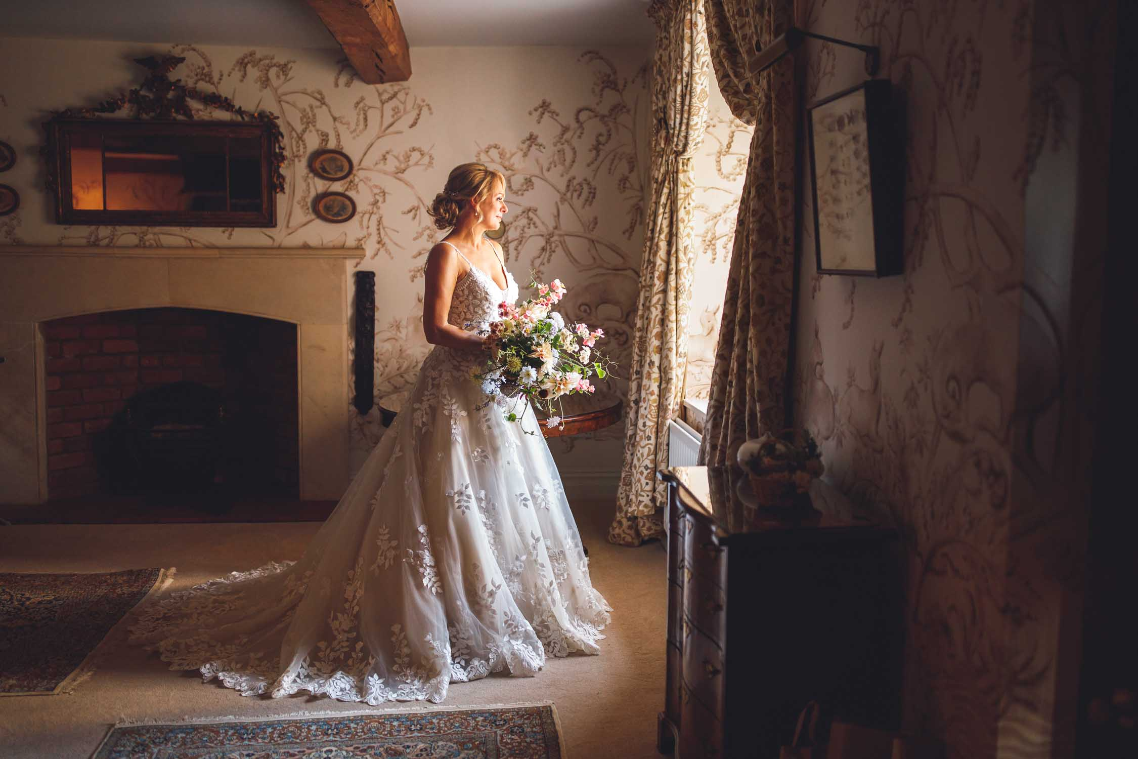 Dewsall Court Wedding Photography, Bridal portraits, Herefordshire, Uk