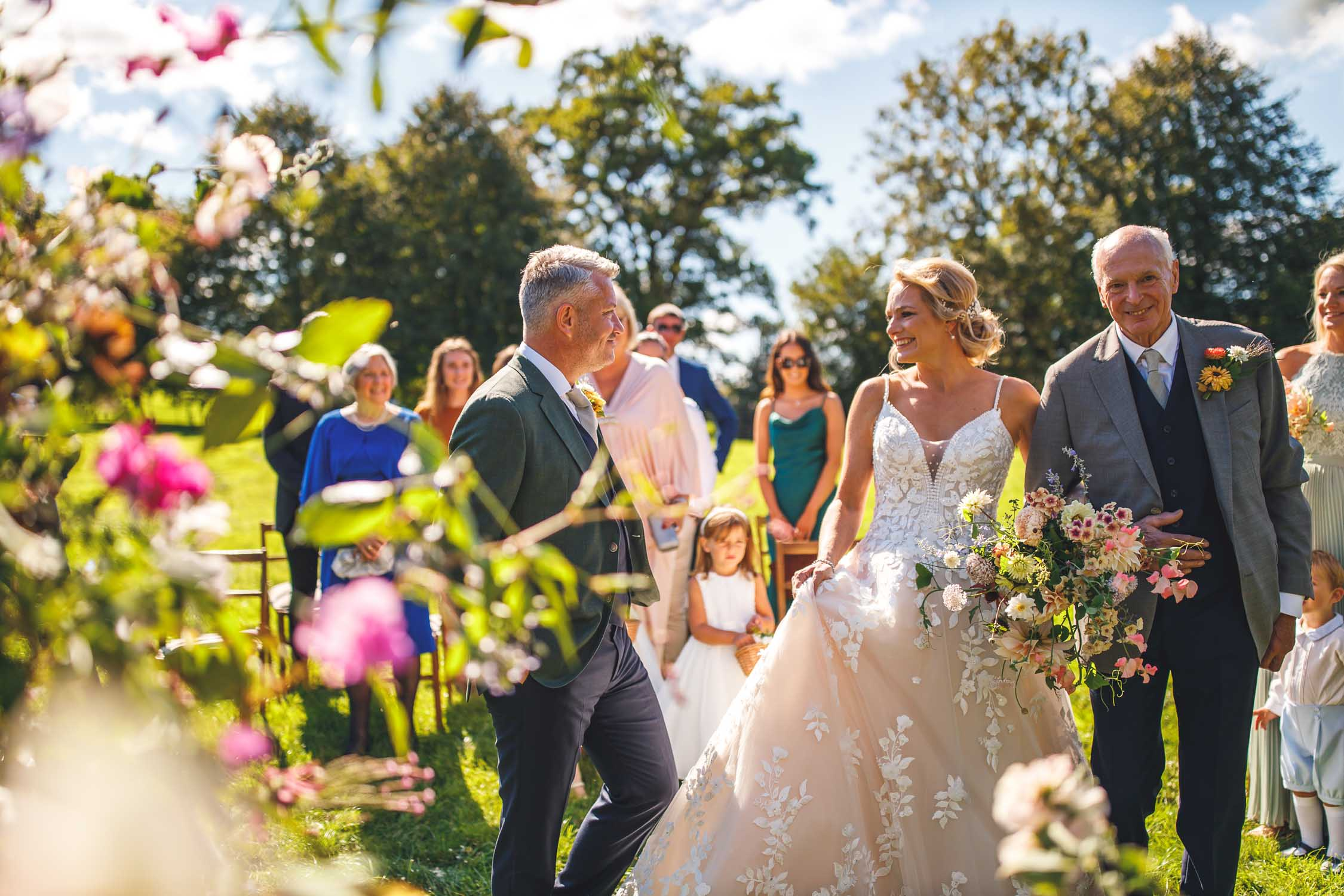 Summer Wedding Ceremony, Dewsall Court, Herefordshire, West Midlands