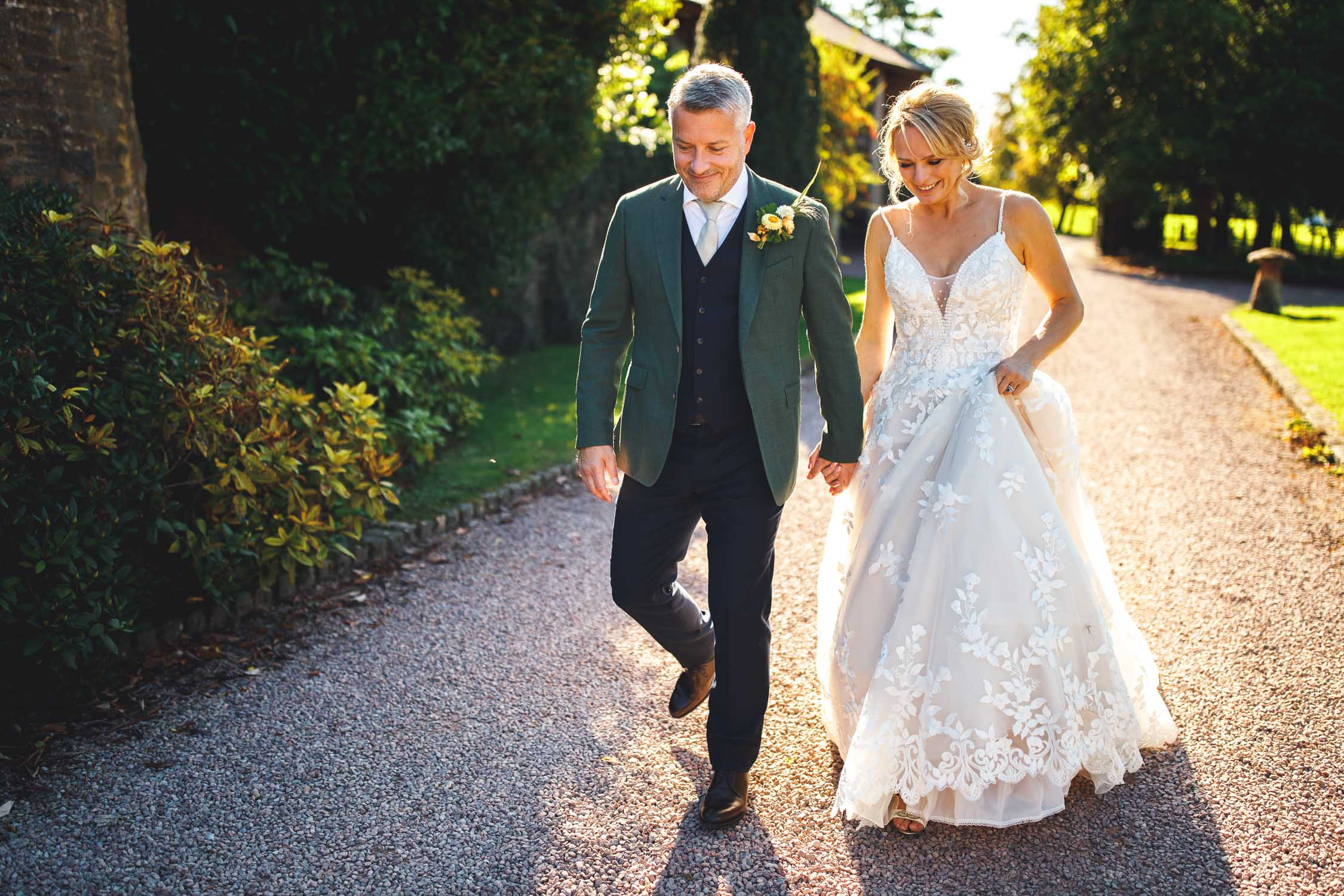 Dewsall Court Wedding, Bride and Groom Portraits, Herefordshire, UK